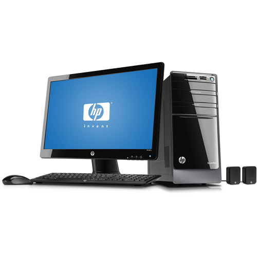 "HP Black Pavilion p7-1017cb Desktop PC Bundle with Intel Core i3-2100 Processor, 1TB Hard Drive, 21.5"" LED Monitor and Windows 7 Home Premium"