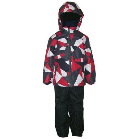 Pulse Toddler Boys 2 Piece Snowsuit Jacket and Bib Set Maze 2T 3T 4T ()