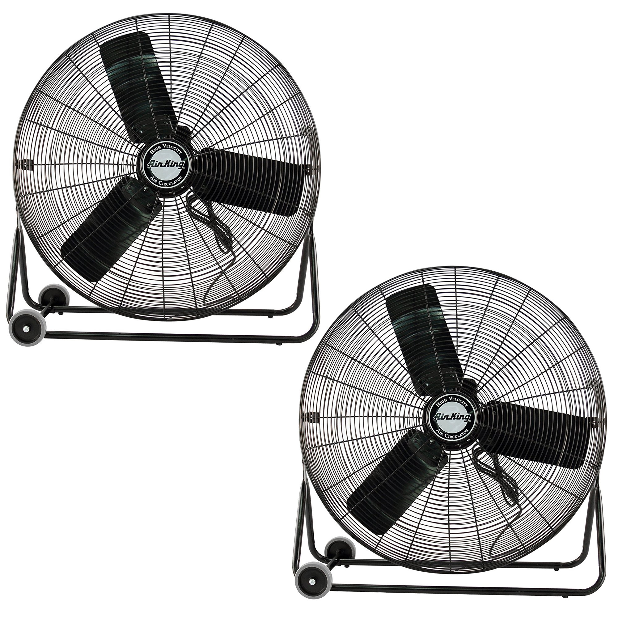 Air King 3 Speed 1/4 HP 120 Volt 30 Inch Enclosed Pivoting Floor Fan (2 Pack)