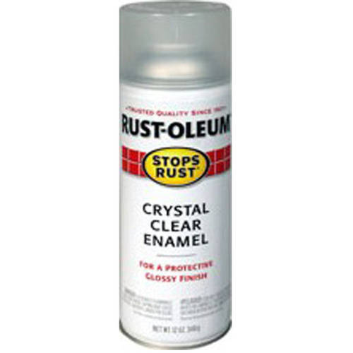 Rust-Oleum Stops Rust Protective Enamel Crystal Clear Spray Paint, 12 oz