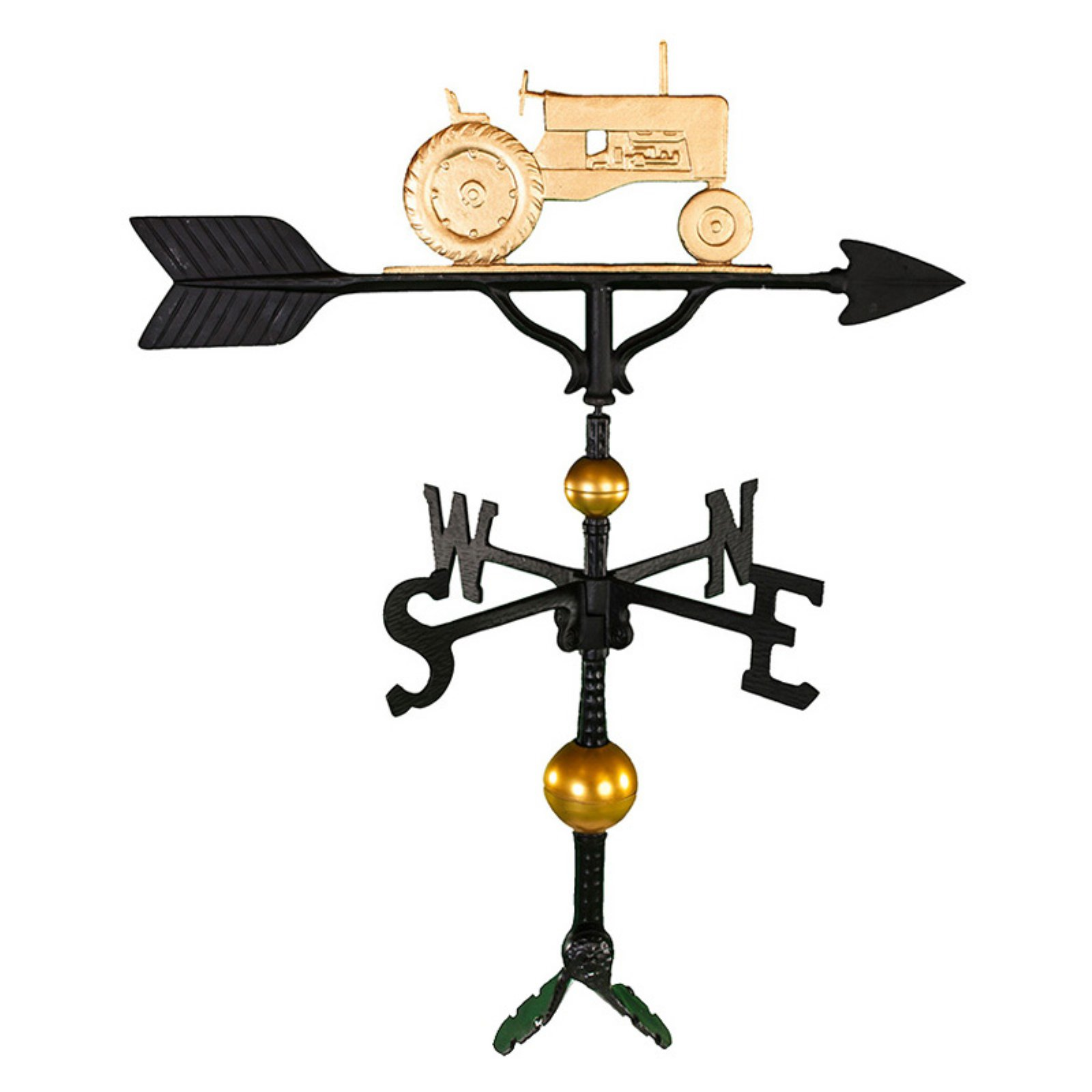 Deluxe Gold Tractor Weathervane 32 in. by Montague Metal Products