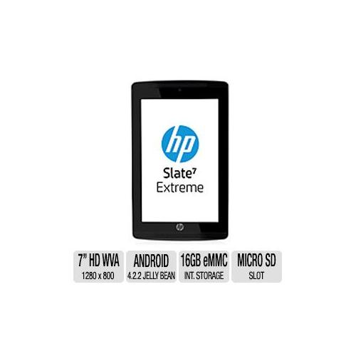 """HP Slate 7 Extreme Business Tablet - Android 4.2.2 Jelly Bean, Nvidia Tegra 4A15 1.8GHz 4+1 Core, 7"""" Diagonal HD WVA Mul"""