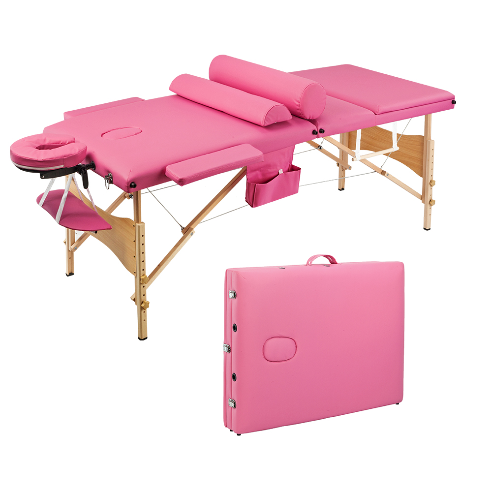"""Zimtown 84""""L Massage Table Adjustable Facial SPA Bed, with Carry Case"""