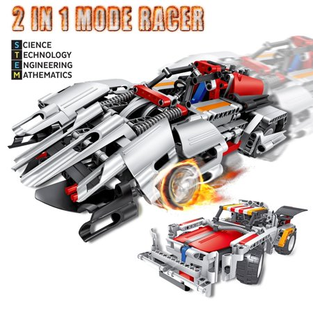 Engineering Toys, STEM Learning Kits, Educational Construction RC Racer Building Blocks Set for 7, 8 and 9 Year Old Boys|Top Xmas Gift Ideas for Kids Age 6yr-14yr - Christmas Gifts For 5 Year Old Boy