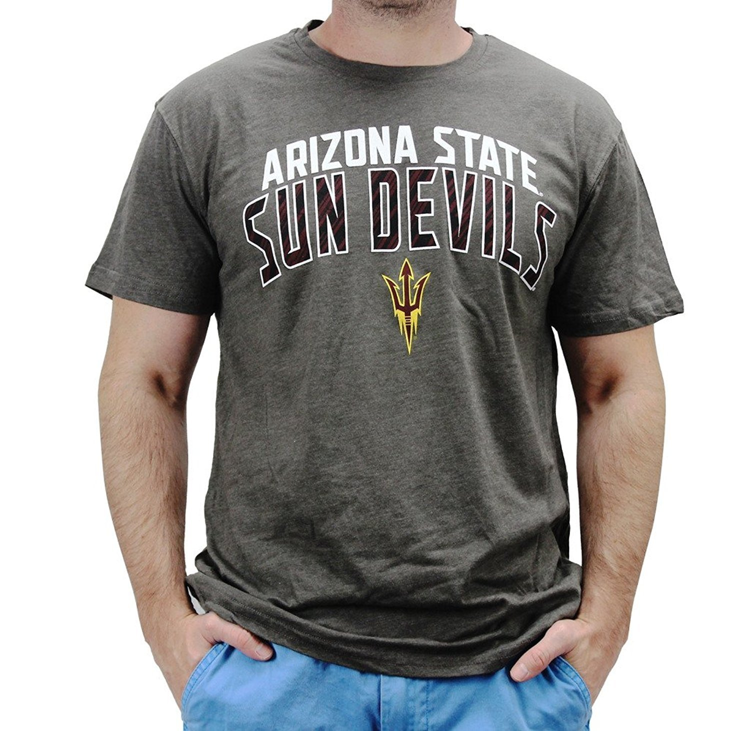 4th and 1 Men's Arizona State Sun Devils T Shirt Grey