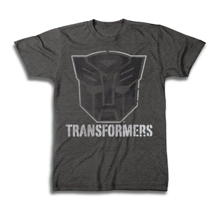 Transformers Autobots Black Logo Mens Grey T-Shirt | 2XL