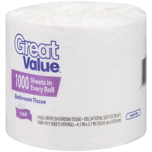 Great Value 1000ct Gv 1 Roll