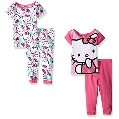 hello kitty hello kitty baby girls icon 4pc pajama pant set pink 18 months walmart com walmart com walmart com