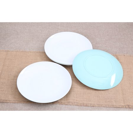 Forest Green Dinner Plate (Mainstays Outdoor Melamine Teal Mix and Match Dinner Plates, Set of 4 )