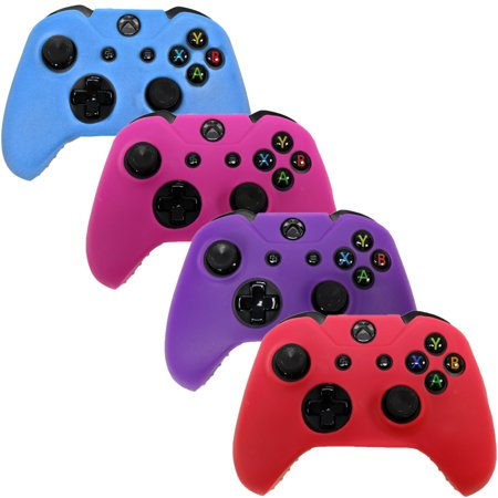 - HDE Xbox One Controller Skin 4 Pack Combo Silicone Rubber Protective Grip Case Cover for Microsoft Xbox 1 Wireless Gamepad (Blue, Red, Purple, Pink)
