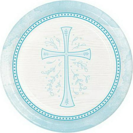 Communion Tableware (Divinity Blue Cross 8 Ct 9