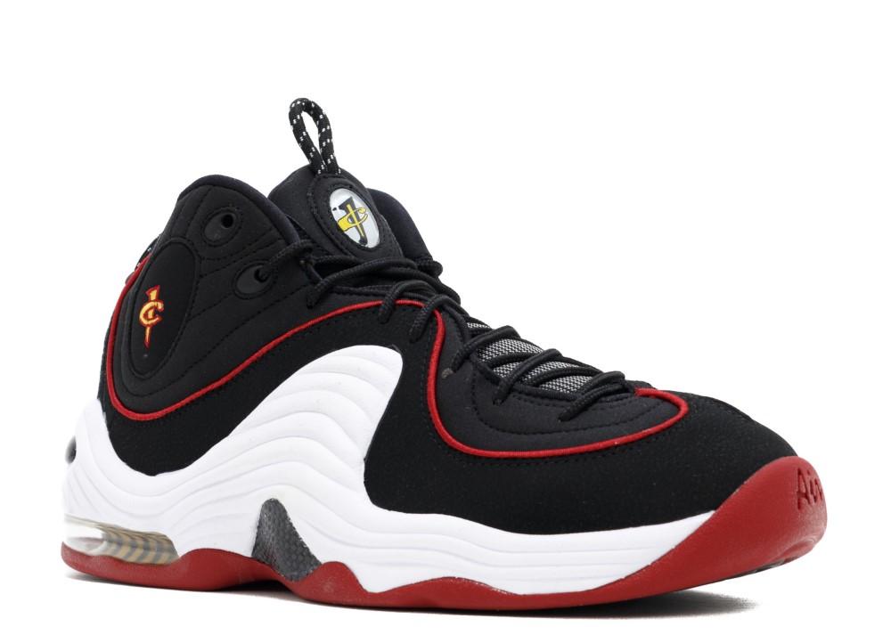 """Men/'s Nike Air Penny II /""""Black//Red/"""" Athletic Basketball Sneakers 333886 002"""