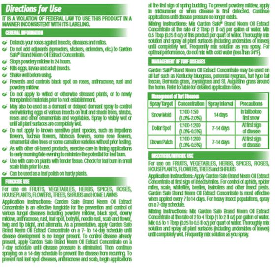 Garden Safe Neem Oil Extract Concentrate 16 Ounces Walmart