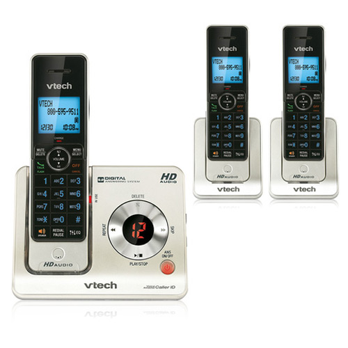 VTech LS6425-3 Expandable Cordless Phone with Push-to-Talk & 3-Extra Handsets by VTech