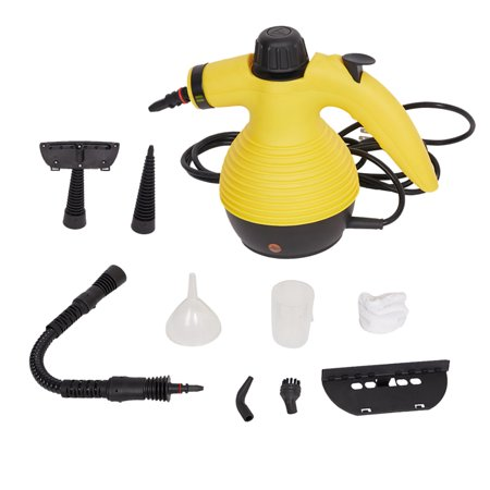 Handheld Steam Cleaner, 9 Attachments and Accessories Multi-Purpose Pressurized for Stains Removal,Garment,Surface,Bathroom, Kitchen, Floor, Carpet and