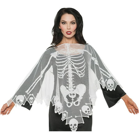 Lace Poncho Adult Halloween - Mastodon Halloween Mp3