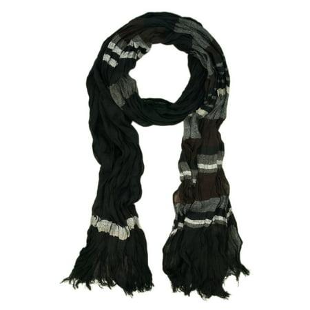 Gray And Black Striped Scarf (Premium Multi Striped Scarf)