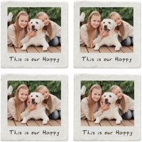 Personalized Memories Shared Photo Coasters, Single Photo