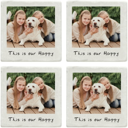 Personalized Memories Shared Photo Coasters, Single Photo - Personalized Photo Coasters