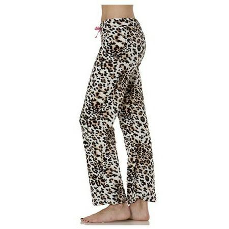 - Love Collection Women Plush Lounge Pants Leopard Sz M L XL A10819RM (M,Leopard)