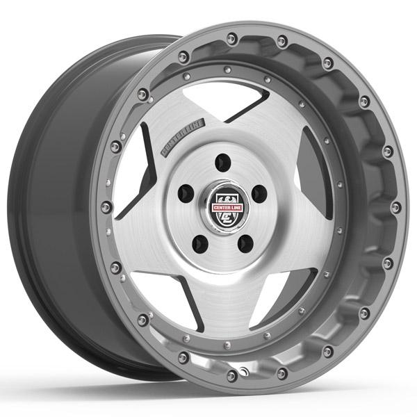"20"" Inch Centerline 832GM RT-1 20x9 8x6.5"" Graphite/Brushed Wheel Rim"