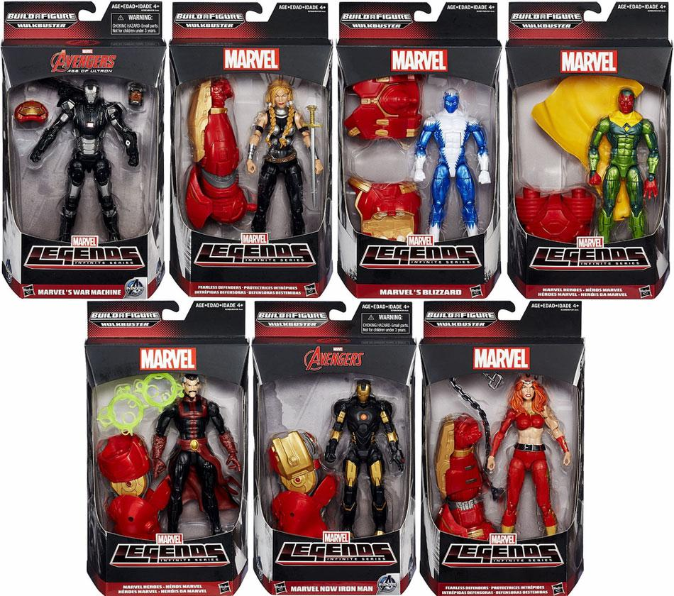 Marvel Legends Avengers Hulkbuster Series Set of 7 Action Figures by