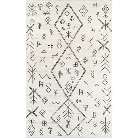 Momeni Atlas Wool Hand Knotted Natural Area Rug 5' X 8' ()