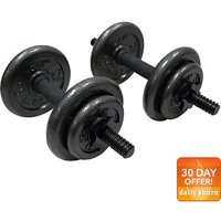 CAP Barbell 40 lb. Adjustable Cast Iron Dumbbell Set