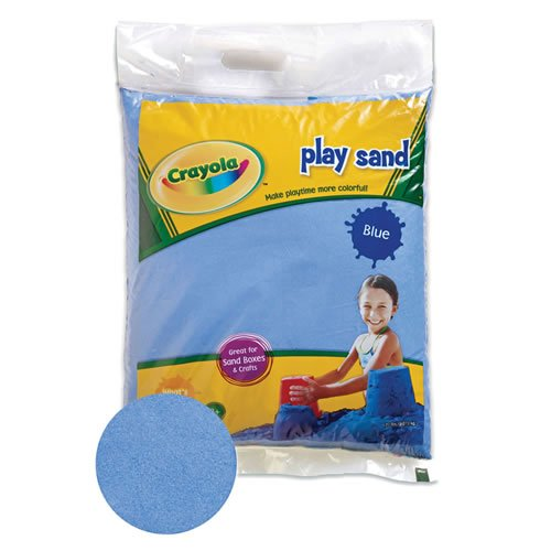 Crayola(R) Blue Play Sand 20 Pound Bag, Blue dust-free pl...