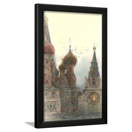 Russian Orthodox Churches Framed Print Wall Art