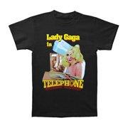 Lady Gaga Men's  Telephone 2010 Tour Slim Fit T-shirt Black