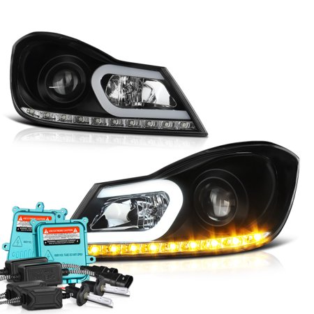(VIPMOTOZ For 2012-2014 Mercedes-Benz W204 C-Class C250 C300 C350 C63 AMG LED DRL Headlights, Driver and Passenger Side)