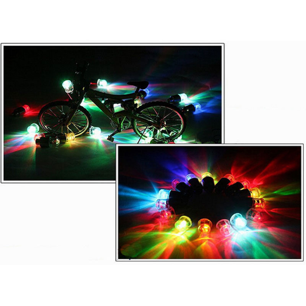 4PCS Motion Bike LED Neon Lamp Valve Stem Light Wheel Tire Cap