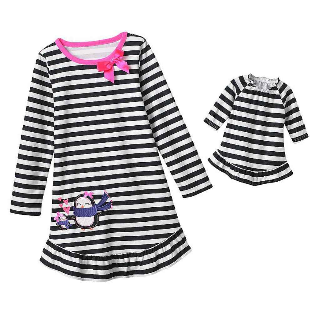 67677752b Jumping Beans - Jumping Beans Girls Black White Stripe Penguin ...