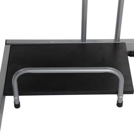 Ktaxon L-shaped Concise Corner Computer Desk Laptop PC Table Flat Shape Table Leg Wooden Desktop Black - image 1 de 5