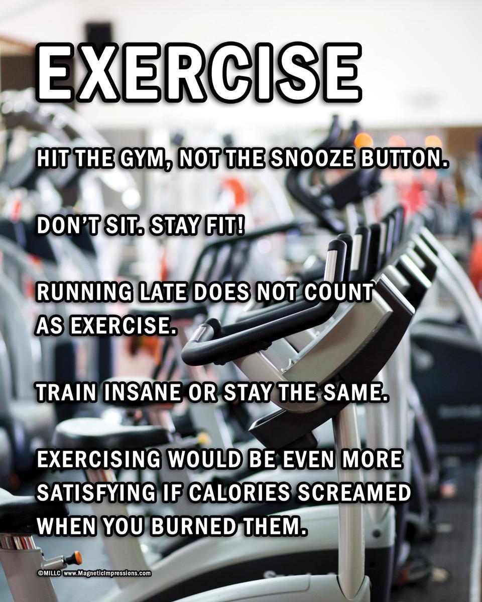 Unframed Exercise Motivational 8 X 10 Sport Poster Print Fitness Quotes Walmart Com Walmart Com