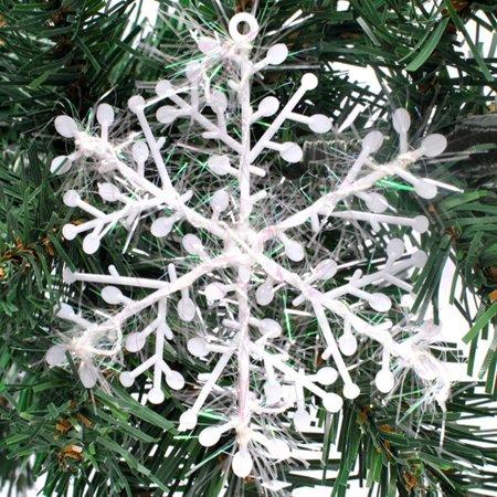 Christmas Tree Decorations Snowflake Ornament Plastic Snowflake Sheets - image 1 of 5