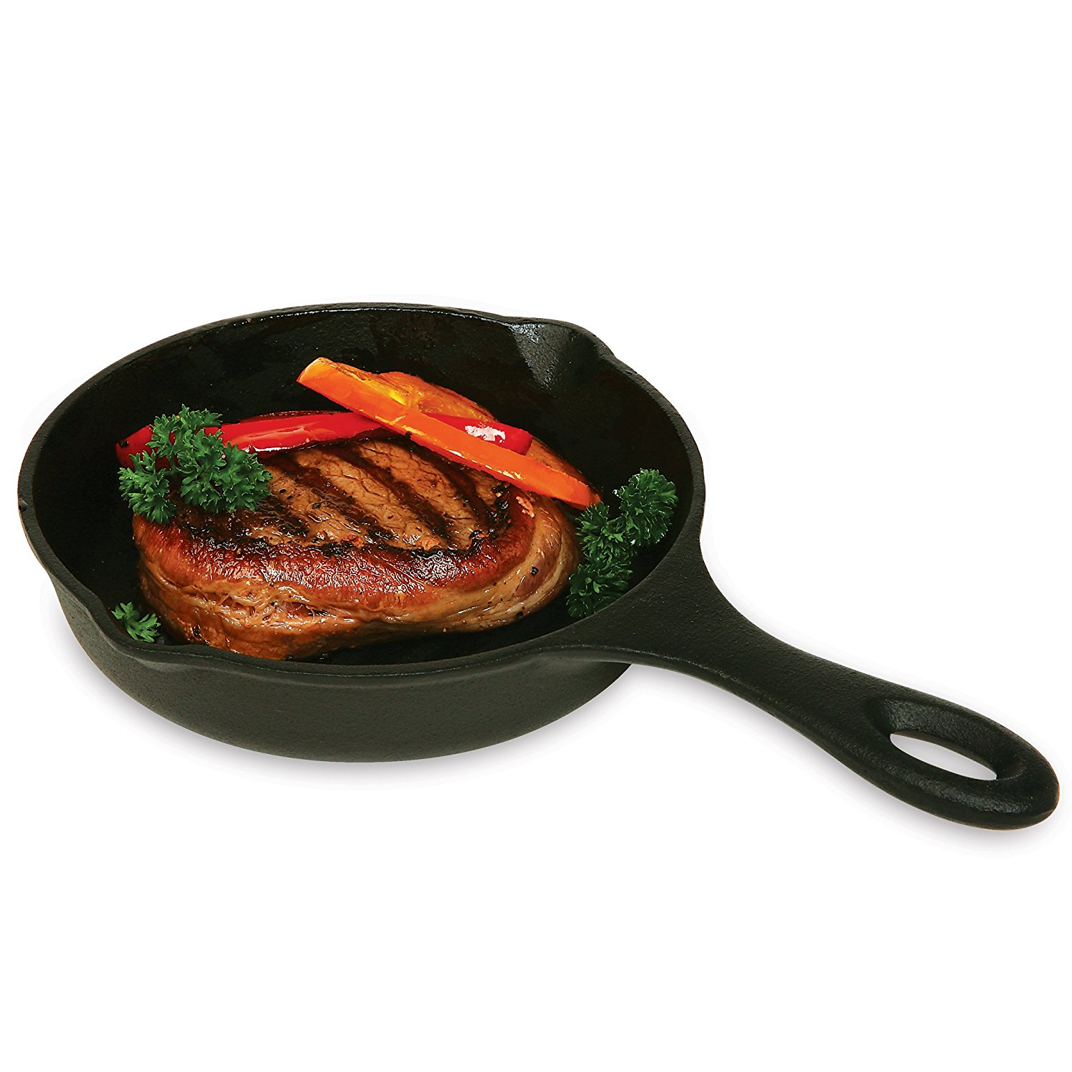 Pre-Seasoned Cast Iron 6.75 Inch Round Grill Pan, By Norpro