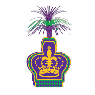 Mardi Gras Centerpiece 15in