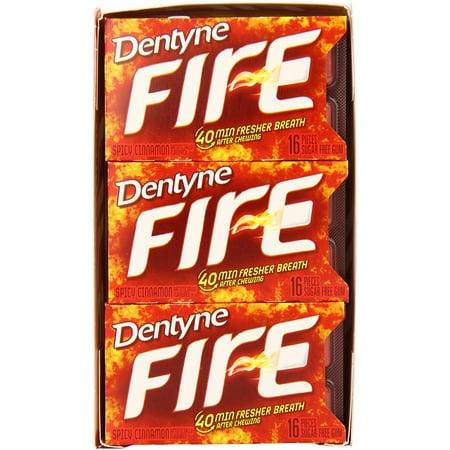 Dentyne Fire Sugar-Free Gum, Spicy Cinnamon 9 pack (16 ct per pack) (Dentyne Fire Spicy Cinnamon)