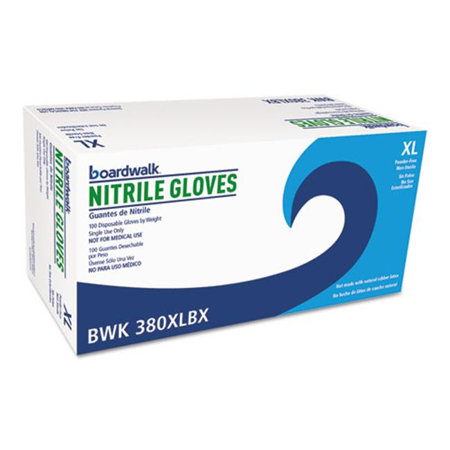 Boardwalk 380XLBX Disposable General Purpose Nitrile Gloves - Extra Large