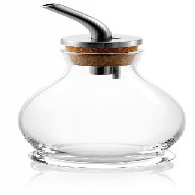 IVV Glassware Rosmarino Oil Cruet, 6-3 4-Ounce, Clear with Stainless Steel Lid by