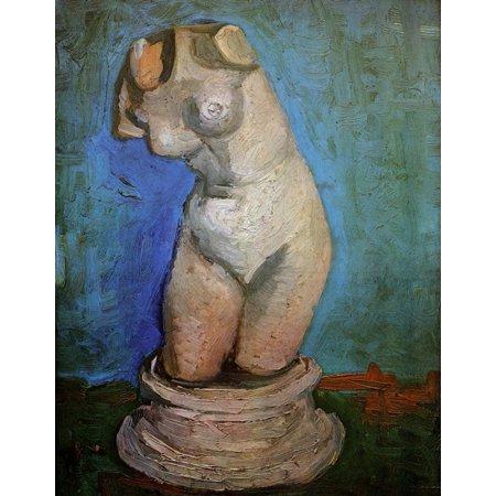 Plaster Statuette of a Female Torso [2] Poster (Female Statuette)