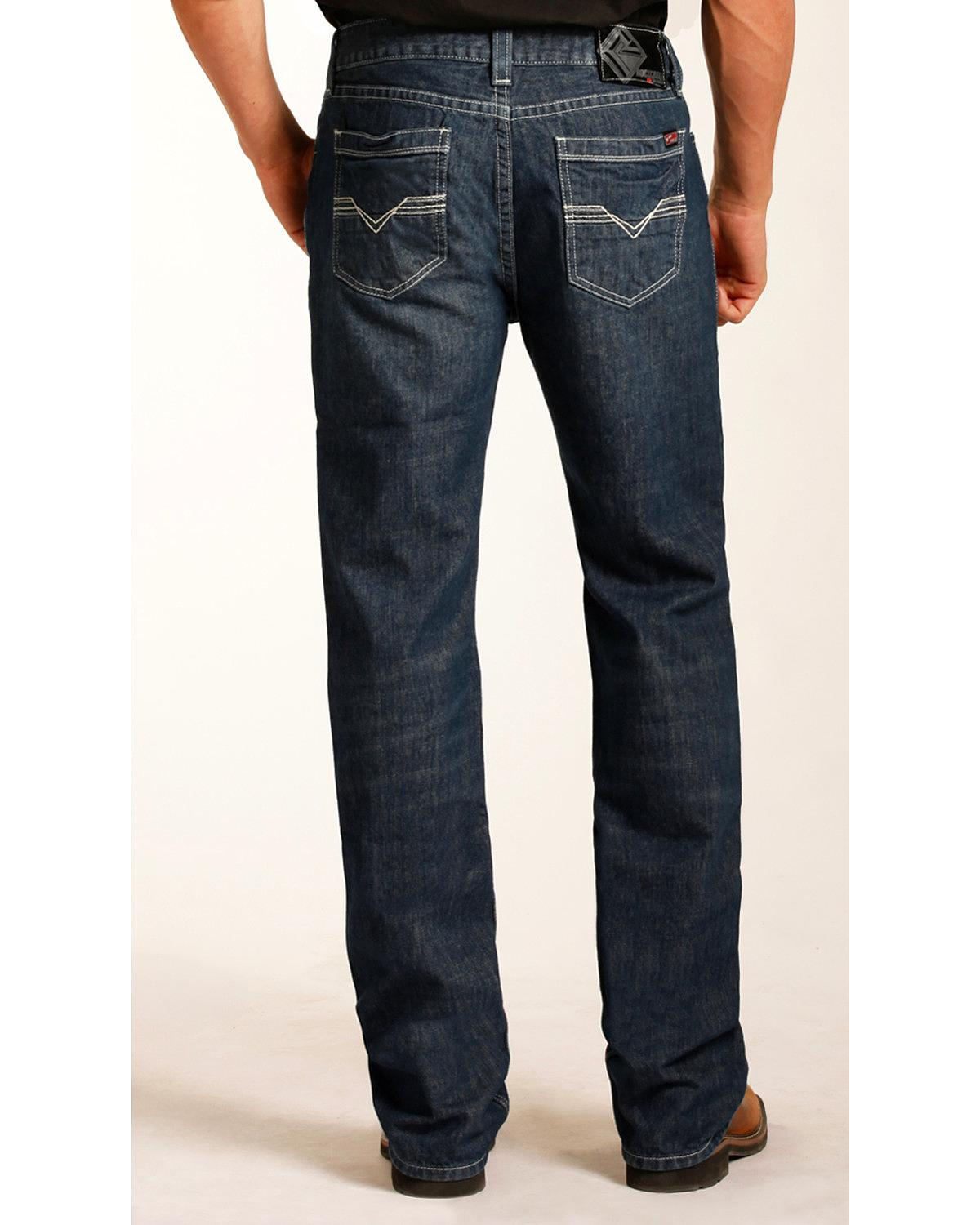 Rock & Roll Cowboy Men's And Double Barrel Relaxed Fit Flame Resistant Jeans - F0s3461