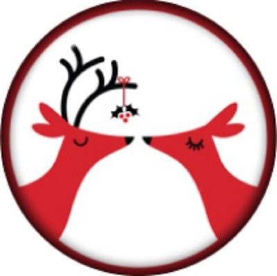 Snap button Reindeer Mistletoe 18mm charm chunk interchangeable