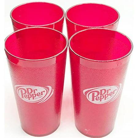 dr. pepper logo red plastic tumblers set of 4 - 16oz Boston Red Sox Plastic Tumbler