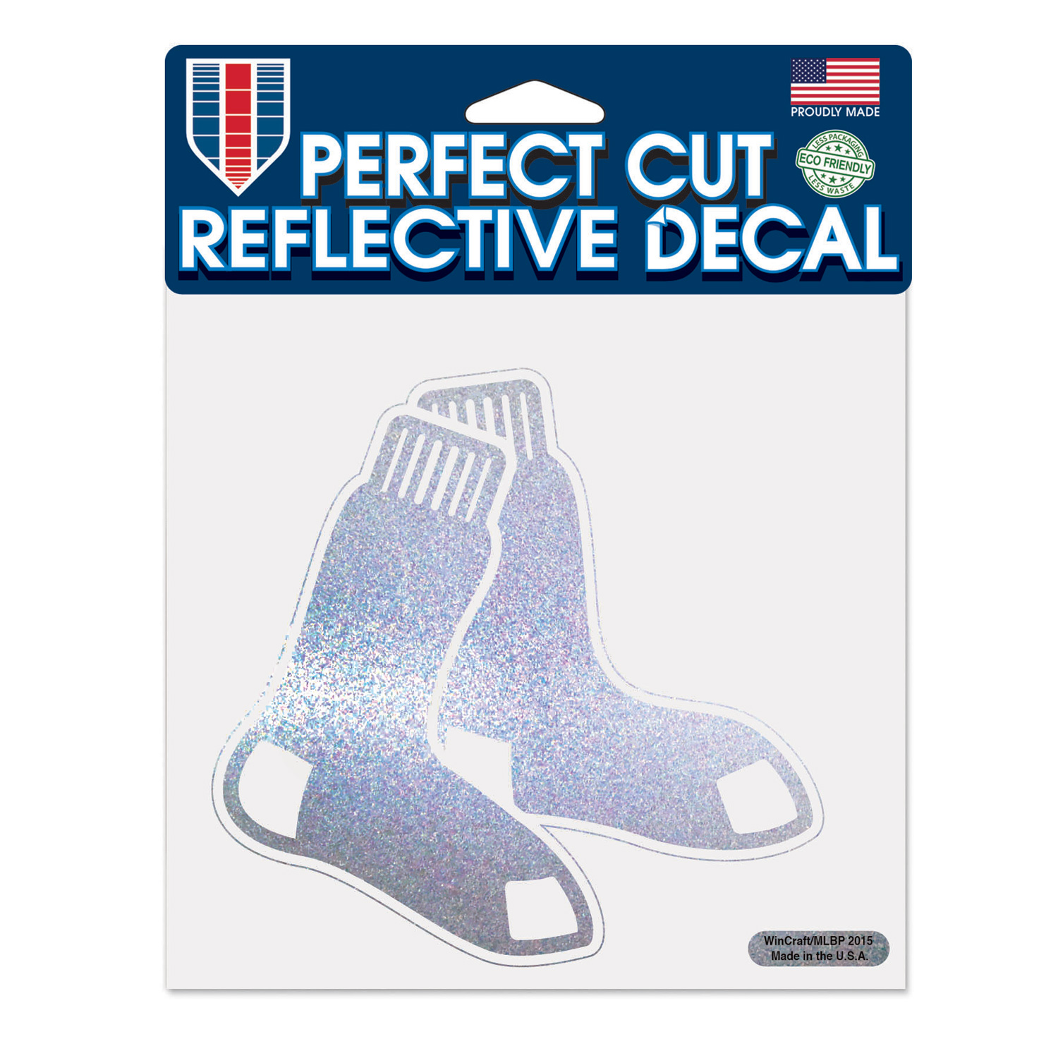 "Boston Red Sox WinCraft 6"" x 6"" Reflective Perfect Cut Decal - No Size"