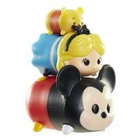 Disney Tsum Tsum Mickey, Alice & Pooh Mini Figures, 3 Pack