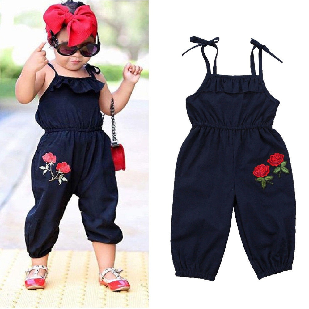 db54ccd9f Emmababy - Boutique Toddler Kids Baby Girls Strap Flower Romper Jumpsuit  Playsuit Outfit Clothes 1-6Y - Walmart.com