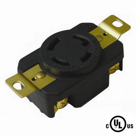 30a Three Pole (NEMA L15-30, 3 Pole 4 Wire 30A 250VAC Grounding Locking Receptacle, cUL Listed)